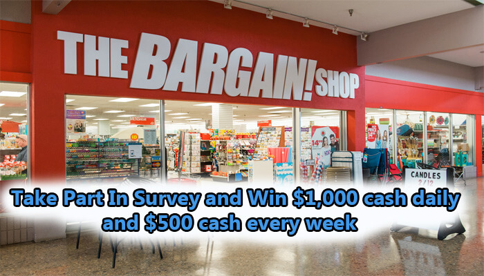 Bargain Shop Listens Survey